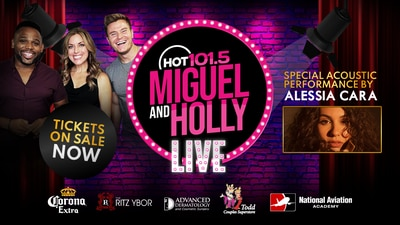 Enter here for your shot to win VIP tickets to Miguel & Holly LIVE!
