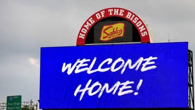 Dog days: 'Rookie' the bat dog disrupts Buffalo Bisons game